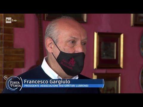 Francesco Gargiulo, patron del Ristorante Antico Francischiello, a Porta a Porta il 1 aprile 2021
