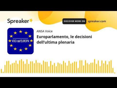 Europarlamento, le decisioni dell'ultima plenaria