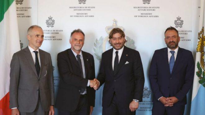 Garavaglia in visita ufficiale a San Marino, accordo sul turismo