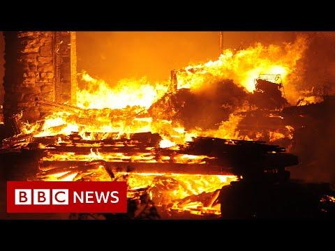 Thousands evacuated as US wildfires burn across California and Nevada – BBC News