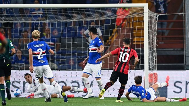 Milan vince in casa Samp, decide Brahim Diaz