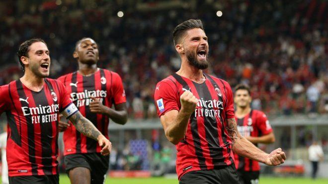 Milan a valanga sul Cagliari, doppietta Giroud