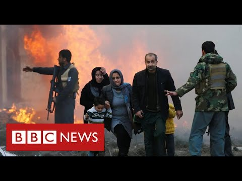 """""""Humanitarian catastrophe"""" as thousands flee Afghan fighting - BBC News"""