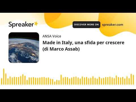 Made in Italy, una sfida per crescere (di Marco Assab)
