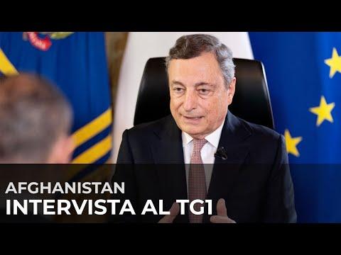 Afghanistan, intervista al Tg1 del Presidente Draghi