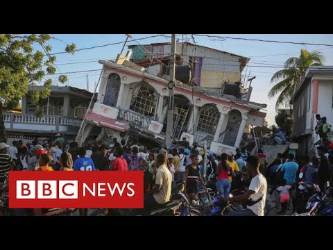 Race to help Haiti earthquake victims as tropical storm approaches - BBC News