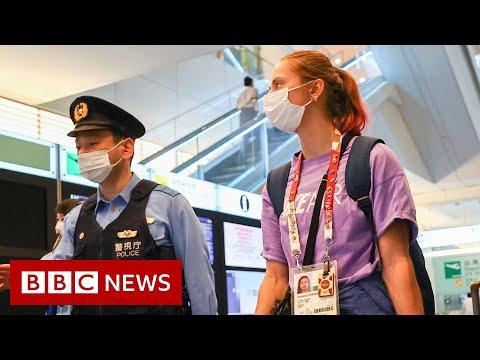 Tokyo Olympics: Belarus sprinter refuses to board flight home - BBC News