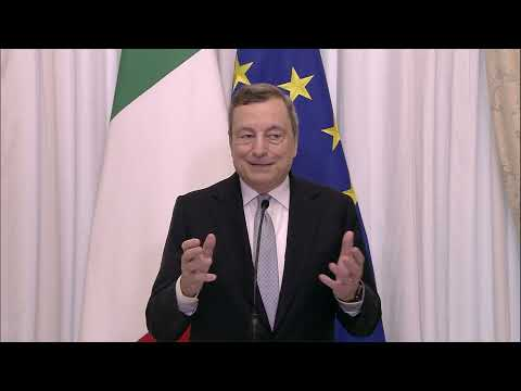 Saluto del Presidente del Consiglio Mario Draghi prima della pausa estiva