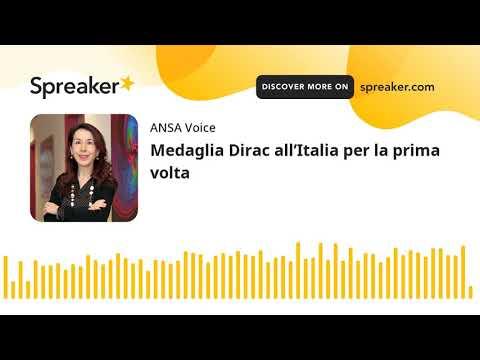 Medaglia Dirac all'Italia per la prima volta