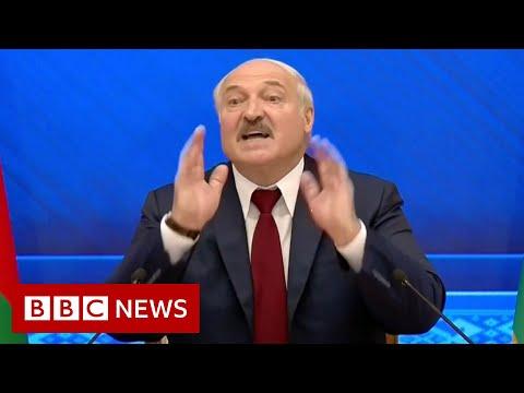 "Belarus's president tells UK to ""choke"" on sanctions – BBC News"