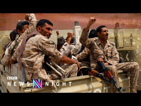 Yemen's frontline: Violence closes in on 'safe-haven' Marib - BBC Newsnight