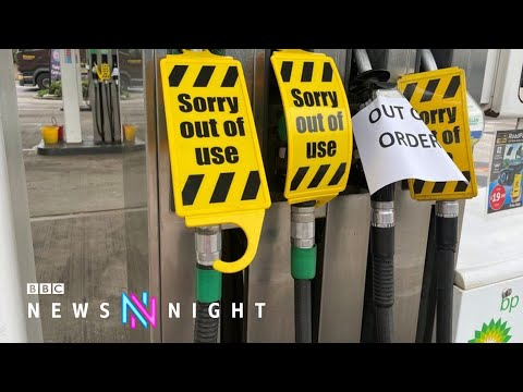 UK petrol stations close due to lorry driver shortages - BBC Newsnight