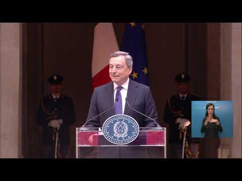 Il Presidente Draghi incontra le Nazionali Campioni d'Europa di Pallavolo. (LIS)