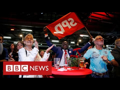 German election exit polls place Social Democrats narrowly ahead – BBC News