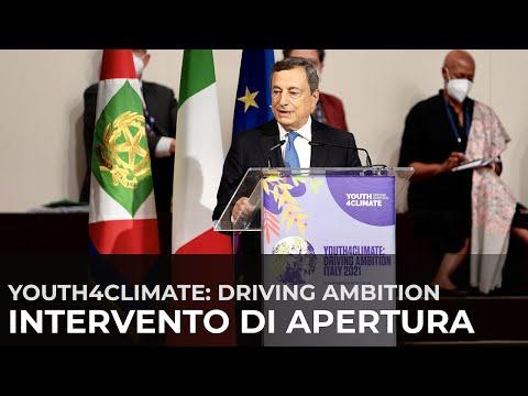 "Intervento del Presidente Draghi all'evento ""Youth4Climate: Driving Ambition"""