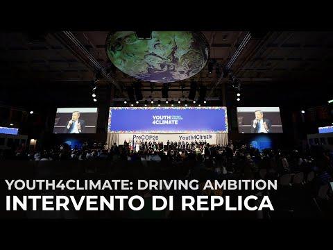 """Intervento di replica del Presidente Draghi all'evento """"Youth4Climate: Driving Ambition"""""""