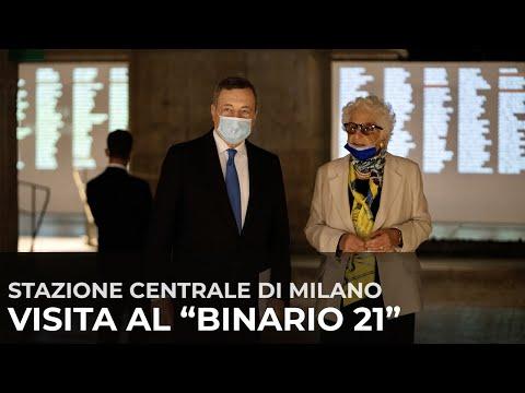 Milano, il Presidente Draghi al Binario 21 della Stazione Centrale – Memoriale della Shoah