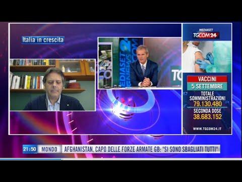 Giuseppe Spadafora, Vicepresidente Unimpresa, ospite al TGCOM24 il 05/09/21