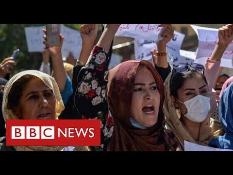 Hundreds of anti-Taliban protestors take to streets of Afghan capital - BBC News