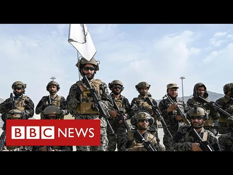"""Taliban celebrate """"moment of victory"""" after last foreign forces leave Afghanistan - BBC News"""