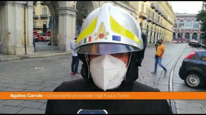 """Incendio in centro a Torino, Vigili Fuoco """"L'edificio è in sicurezza"""""""